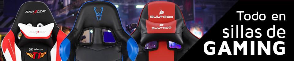 Descubre toda la variedad de modelos y marcas en sillas gaming