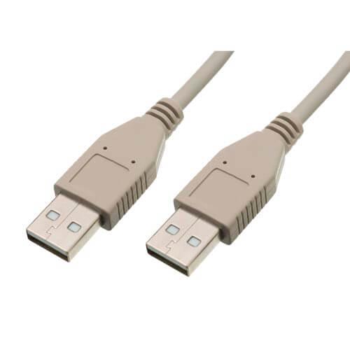CABLE USB NANO CABLE USB2.0 A/M - USB2.0 A/M 1.0M BEIGE | Quonty.com | 10.01.0302