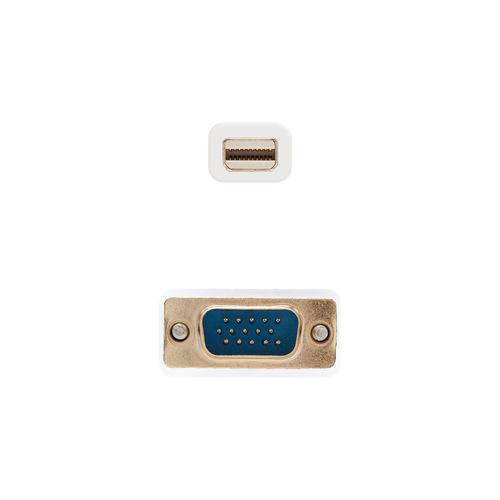 NANO CABLE MINI DISPLAYPORT/MACHO A VGA/MACHO 3M BLANCO | Quonty.com | 10.15.4103