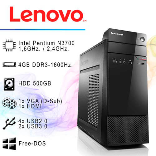 ORD. LENOVO THINKCENTRE S200-SFF-10HQ0013SP N3700 4GB H500GB | Quonty.com | 10HQ0013SP