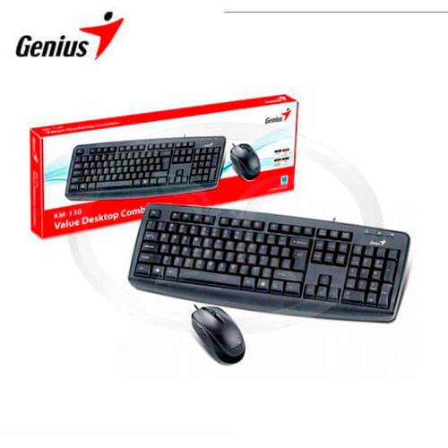 COMBO TECLADO/RATON GENIUS KM-130 USB NEGRO | Quonty.com | 31330210101