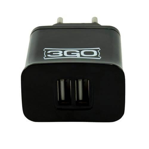 CARGADOR PARED 3GO 2USB 5V 2.1A | Quonty.com | ALIMUSBH2