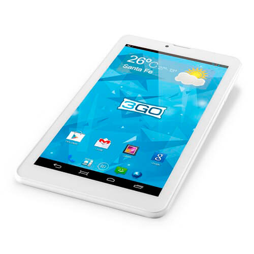 "TABLET 3GO GT70023G 7"" DUAL CORE 8GB 3G 4.4 1,3GHZ BLANCA | Quonty.com | GT70023G"