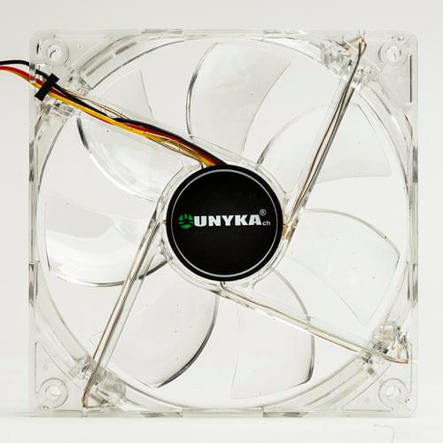 VENTILADOR UNYKA 12CM 1.100RPM NEON-BLANCO | Quonty.com | 51782