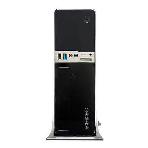 CAJA SOBREMESA/MICRO-ATX UNYKA UK2009 300W 85% USB3.0 METAL NEGRA | Quonty.com | 52016