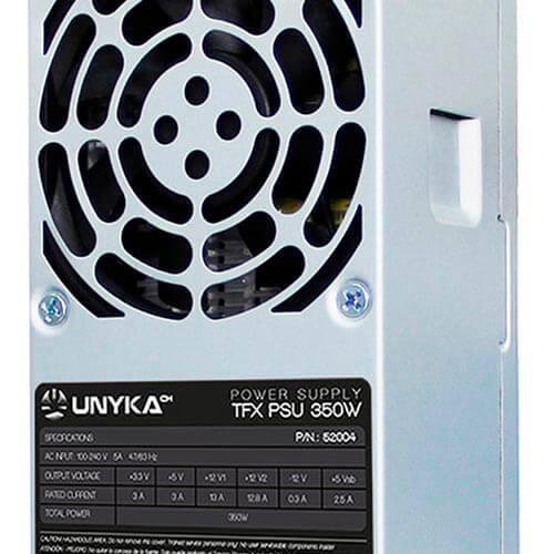 FUENTE UNYKA 350W PFC-ACTIVO 80+BRONCE 8CM TFX | Quonty.com | 52004