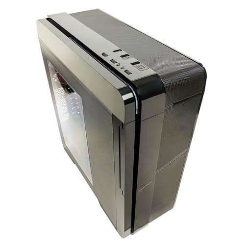 CAJA SEMITORRE/ATX UNYKA BLAST FIRE S/FUENTE USB3.0 NEGRA LED-ROJO | Quonty.com | 52065