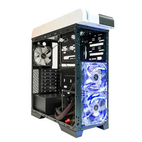 CAJA SEMITORRE/ATX UNYKA BLAST ICE S/FUENTE USB3.0 | Quonty.com | 52066