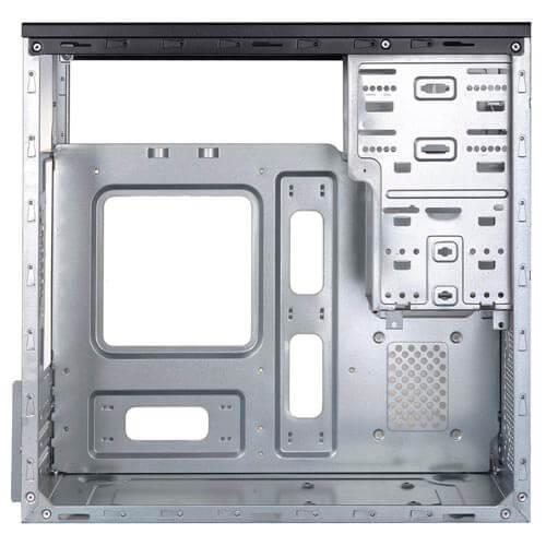 CAJA MINITORRE/MICRO-ATX UNYKA GREY RAIN 500W USB2.0 NEGRA | Quonty.com | 52078