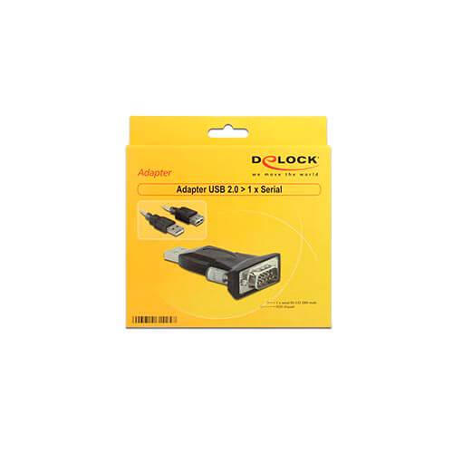 CABLE USB DELOCK USB2.0 M - USB2.0 H + ADAPT.SERIE | Quonty.com | 61425