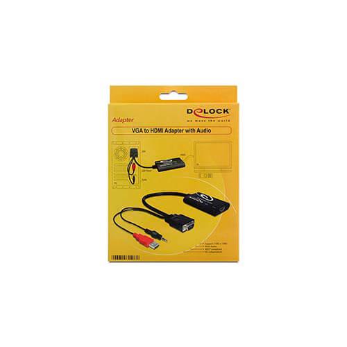 ADAPTADOR/CABLE DELOCK HDB15/M C/AUDIO HDMI A/H 0,2M | Quonty.com | 62408