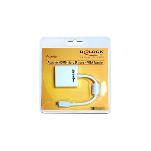 CABLE MICRO HDMI MACHO A VGA HEMBRA DELOCK | Quonty.com | 65347