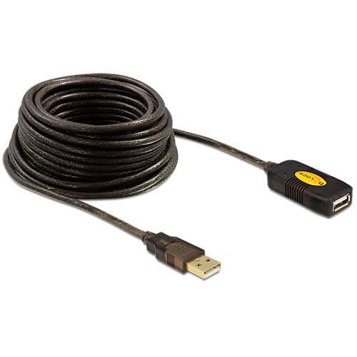 CABLE USB DELOCK USB2.0 A/M - USB2.0 A/H 10M NEGRO ACTIVA | Quonty.com | 82446