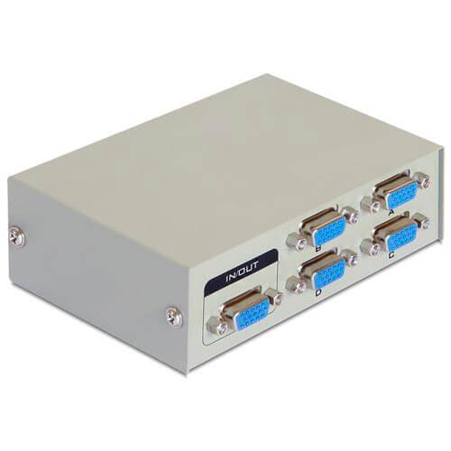 CONMUTADOR BIDIRECCIONAL MANUAL VGA 4 PTOS DELOCK | Quonty.com | 87635
