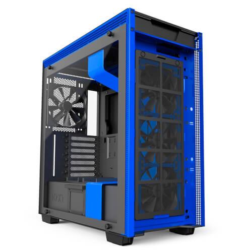CAJA SEMITORRE NZXT H700I SMART ATX NEGRO Y AZUL | Quonty.com | CA-H700W-BL