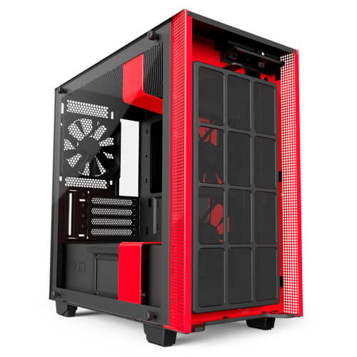 Caja Semitorre Nzxt H400i Smart Matx Negro Y Rojo (Ca-H400w- | Quonty.com | CA-H400W-BR