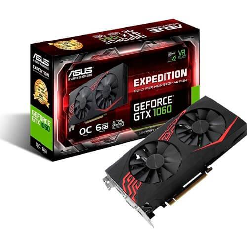 ASUS EX-GTX1060-O6G 6GB GDDR5 PCIE3.0 HDMI | Quonty.com | 90YV0A28-M0NA00