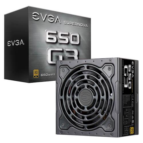 Fuente Alimentacion Evga Supernova 650 G3, 80 Plus Gold 650w | Quonty.com | 220-G3-0650-Y2