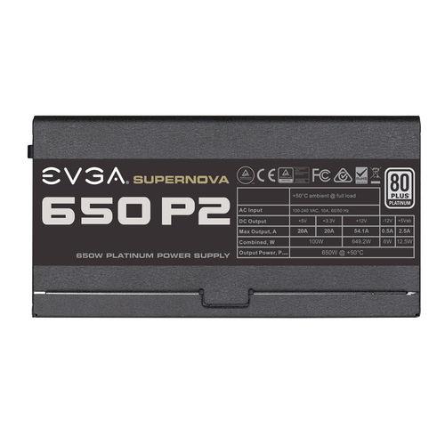 Fuente Alimentacion Evga 650 P2 80+ Platinum 650w Modular | Quonty.com | 220-P2-0650-X2