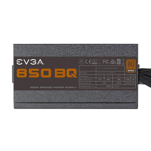 Fuente Alimentacion Evga 850 Bq, 80+ Bronze 850w   Quonty.com   110-BQ-0850-V2