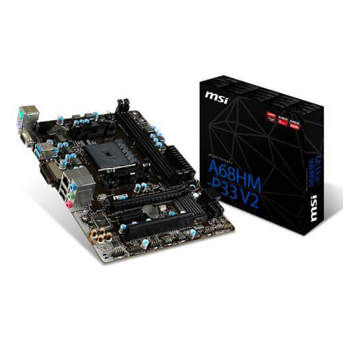 PLACA MSI A68HM-P33 V2 FM2+ 2DDR3 DVI SATA3 USB3.0 MATX | Quonty.com | A68HM-P33 V2