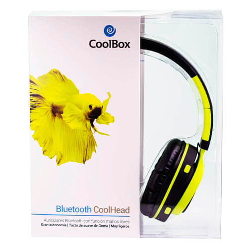AURICULARES COOLBOX COOLHEAD BLUETOOTH AMARILLO | Quonty.com | COO-AUB01-YW