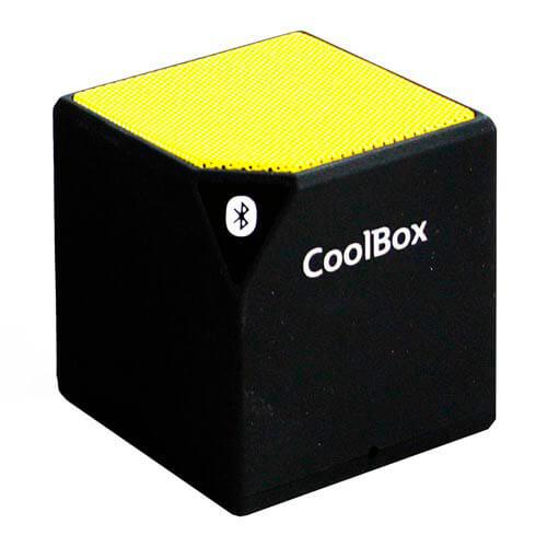 ALTAVOZ COOLBOX CUBE BLUETOOTH AMARILLO | Quonty.com | COO-BTACUB-YW