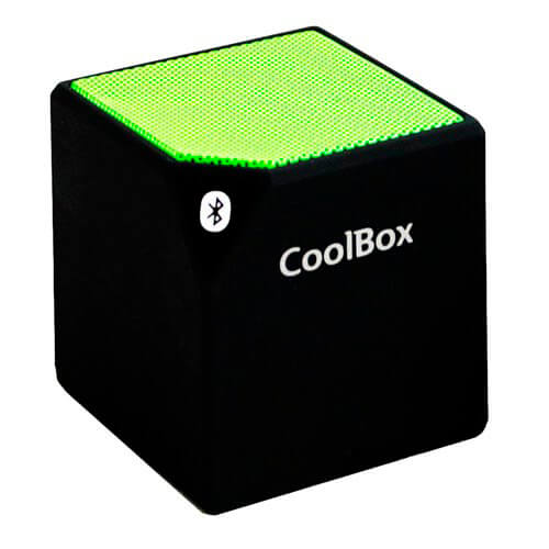 ALTAVOZ COOLBOX CUBE BLUETOOTH VERDE | Quonty.com | COO-BTACUB-GR