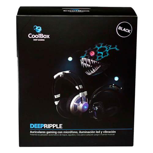 AURICULARES C/MICROFONO COOLBOX DEEPRIPPLE GAMING NEGRO | Quonty.com | DG-AUR600-BK