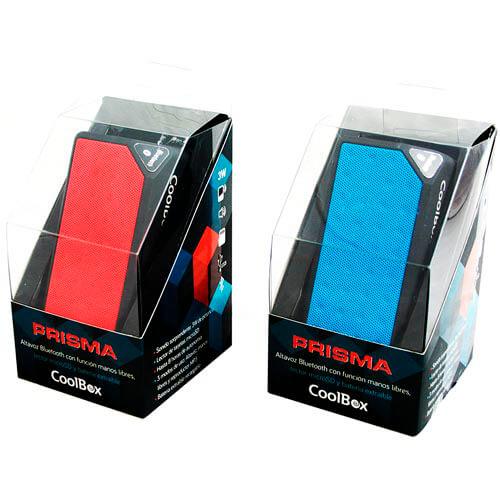 ALTAVOZ COOLBOX PRISMA ROJO BLUETOOTH | Quonty.com | COO-BTAPRI-RD