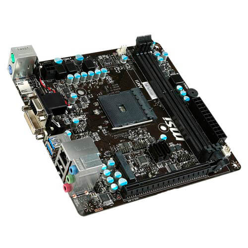 PLACA MSI AM1I AM1 2DDR3 HDMI SATA3 USB3.0 MINI-ITX | Quonty.com | 7865-001R
