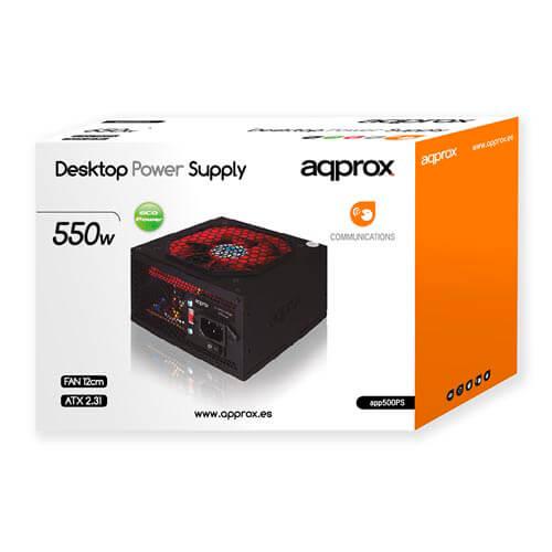 Fuente Approx 550w Pfc-Pasivo 12cm Atx | Quonty.com | APP550PS