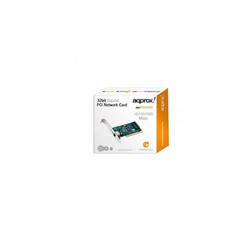 TARJETA RED APPROX PCI 10/100/1000 1RJ45 | Quonty.com | APPPCI1000V2