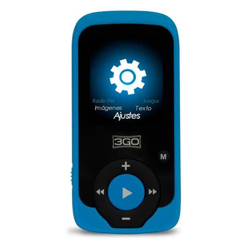 REPRODUCTOR MP4 3GO ARYA 8GB AZUL/NEGRO | Quonty.com | ARYABL