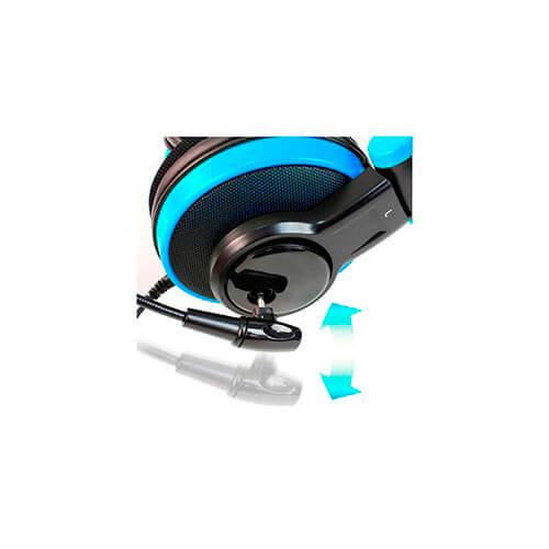 AURICULARES C/MICROFONO COOLBOX QUASAR HERMES USB C/VOLUMEN NEGRO/AZUL | Quonty.com | AURQUAHERMES
