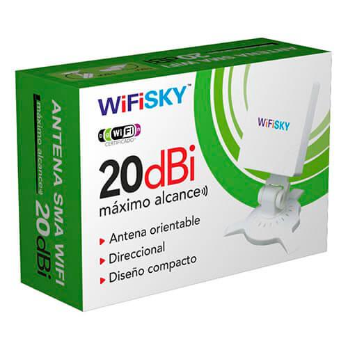 ANTENA WIFI WIFISKY 20DBI DIRECCIONAL PANEL | Quonty.com | 9211111476856