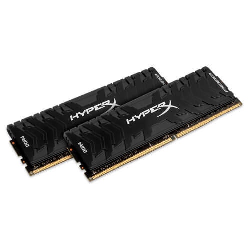 Kingston Ddr4 16gb (4x4) 3200mhz Cl16 Hyperx Predator Black | Quonty.com | HX432C16PB3K2/16