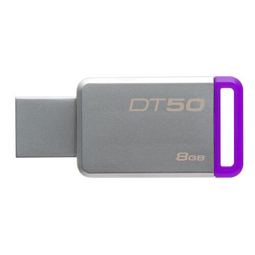 PENDRIVE 8GB USB 3.1 KINGSTON DT50 MORADO | Quonty.com | DT50/8GB