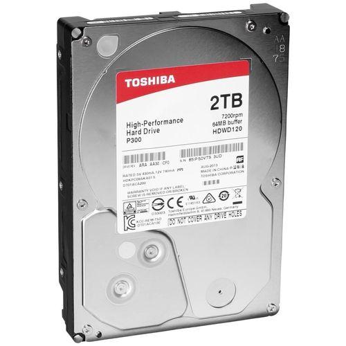 Hdd Toshiba 3.5'' 2tb 7200rpm 64mb Sata3 P300 | Quonty.com | HDWD120UZSVA