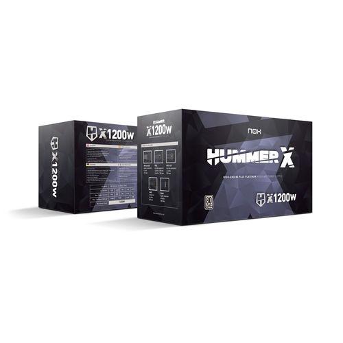 Fuente De Alimentacion/Atx Nox Hummer X 1200w   Quonty.com   NXHUMMERX1200WPT