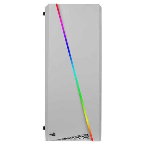 CAJA SEMITORRE/ATX AEROCOOL CYLONW BLANCA LED-RGB | Quonty.com | CYLONW