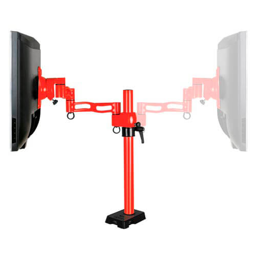 SOPORTE MONITOR/TV ARCTIC Z-1 1BRAZO HUB USB2.0 4PTOS 13''/27'' MAX.10KG ROJO   Quonty.com   ORAEQ-MA007-GBA01