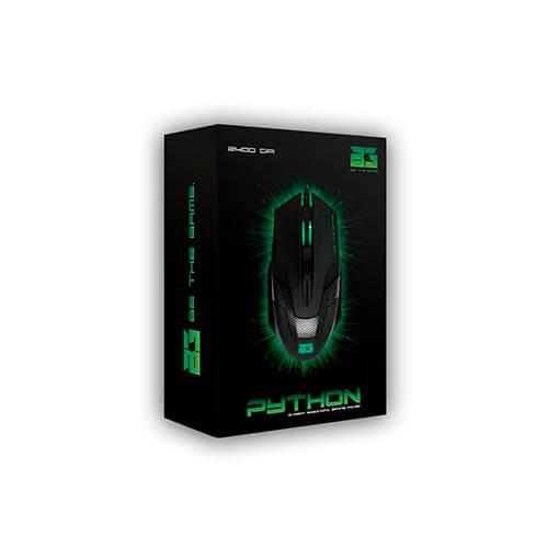 RATON B-MOVE PYTHON GAMING OPTICO 800-2400DPI USB LED   Quonty.com   BM-MOD07