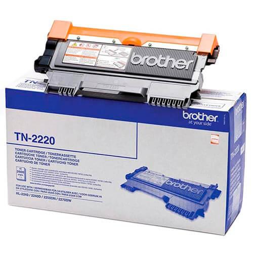 TONER BROTHER TN2220 NEGRO 2.600PAG | Quonty.com | TN2220