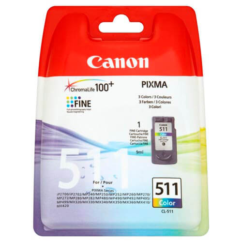 TINTA CANON CL511 9ML. COLOR PIXMA MP240/260/480 | Quonty.com | 2972B001