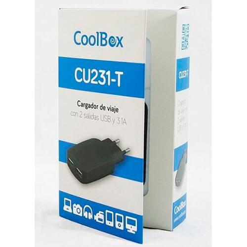 CARGADOR PARED COOLBOX 231T 2USB 3.1A | Quonty.com | FALCOOUX231T