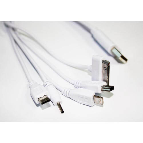 CABLE USB COOLBOX USB2.0 A/M - MULTICONECTOR DATOS/CARGA 0,3M BLANCO | Quonty.com | COO-MULTUC03