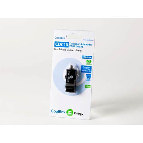 CARGADOR COCHE COOLBOX CDC-10 1USB 2.1A | Quonty.com | REPCOOCARDC10