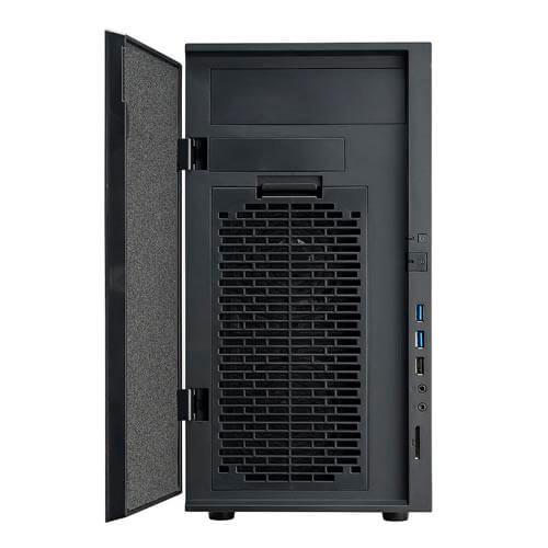 CAJA MINITORRE/MICRO-ATX COOLER MASTER SILENCIO 352 S/FUENTE USB3.0 C/LECTOR METAL NEGRA | Quonty.com | SIL-352M-KKN1