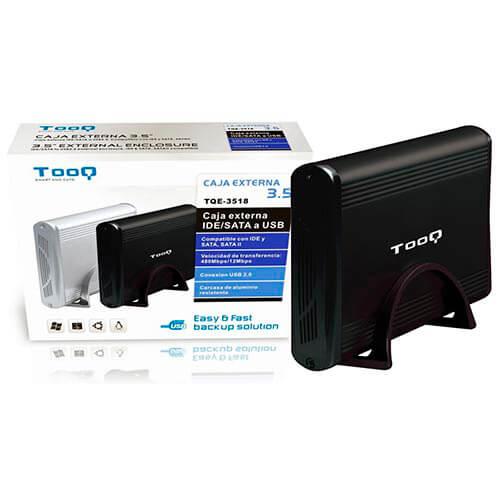 CAJA HDD TOOQ TQE-3518B 3.5'' IDE/SATA3 USB2.0 NEGRA | Quonty.com | TQE-3518B